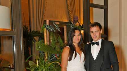 PHOTO \u0026ndash; Mariage de Louis Ducruet\u0026nbsp; Marie Chevallier radieuse  dans sa troisi\u0026egrave;