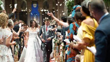 PHOTO – Mariage de Louis Ducruet: Marie Chevallier somptueuse dans la robe de mariée dessinée par sa belle-soeur, Pauline