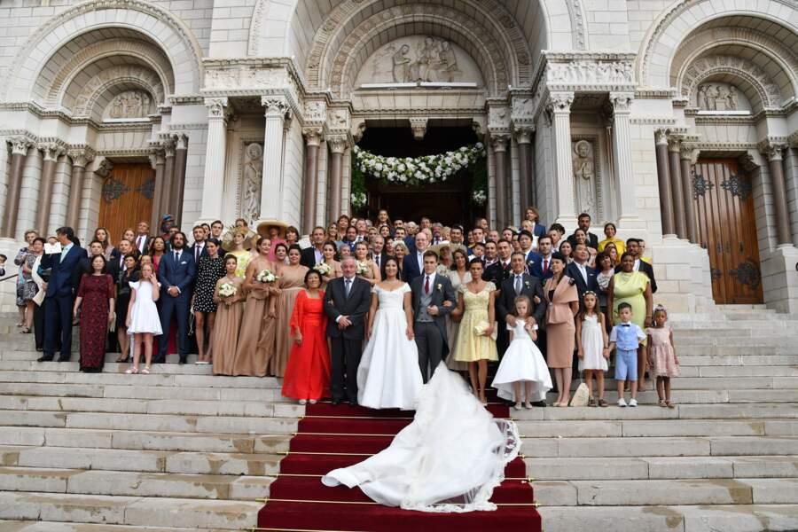 """Louis Ducruet et Marie Chevallier se disaient """"oui"""" le 27 juillet 2019 lors d'une cérémonie religieuse. Sauf qu'un imprévu a pointé le bout de son nez : la pluie."""