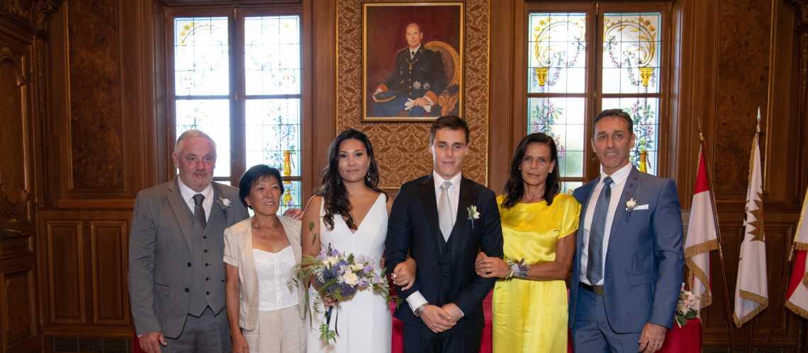 Mariage de Louis Ducruet  les jolis mots de Stéphanie de Monaco à sa  belle,fille Marie Chevallier , Gala