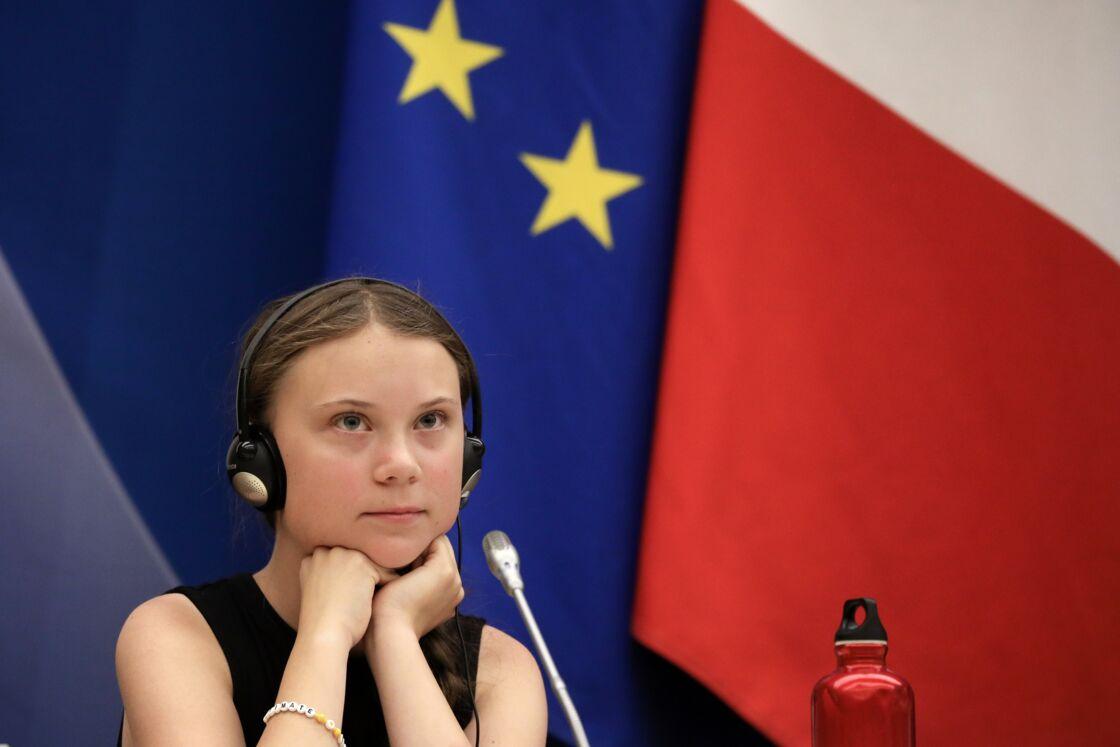 Greta Thunberg à l'Assemblée Nationale, à Paris, le 23 juillet 2019.