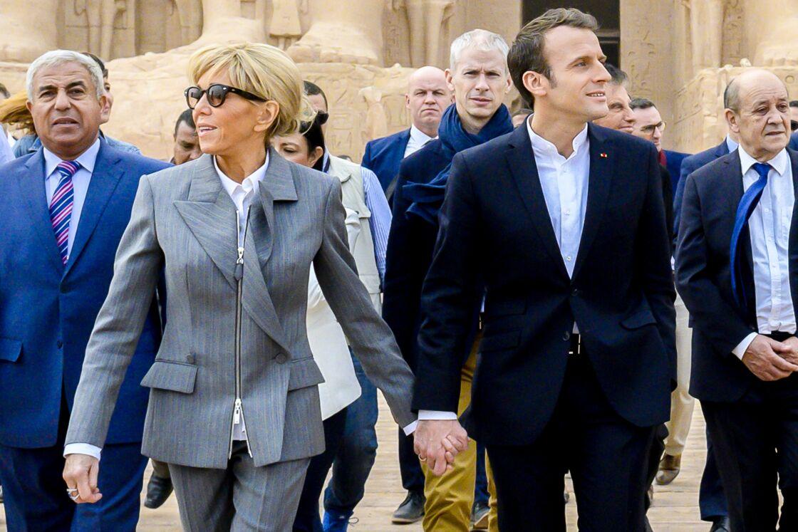 Brigitte et Emmanuel Macron en Egypte, le 27 janvier 2019.