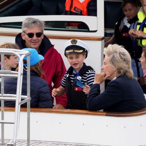 PHOTOS – George et Charlotte, adorables supporters de Kate Middleton et William