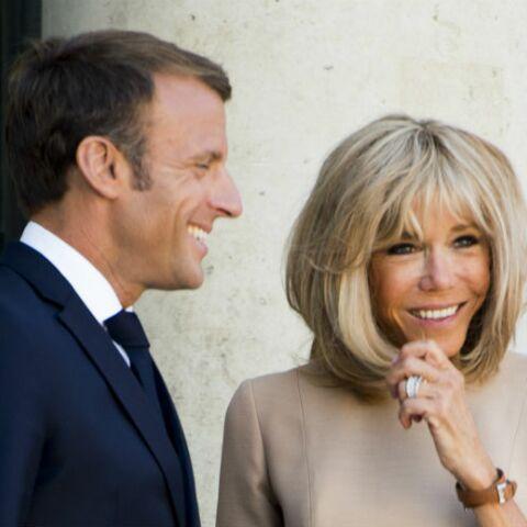PHOTOS – Emmanuel et Brigitte Macron, de retour à l'Elysée après leurs vacances, s'affichent complices et souriants