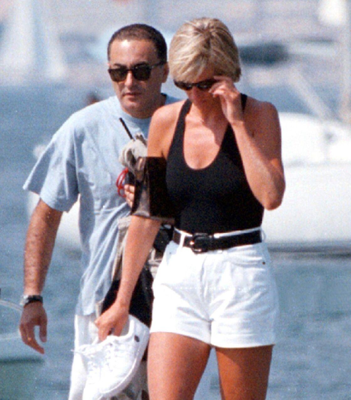 Dodi Al-Fayed et Lady Diana à Saint-Tropez, en juillet 1997.