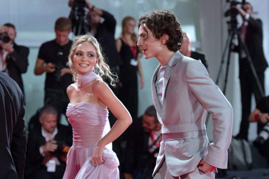 Venice - The King Premiere Lily Rose Depp and Timothee Chalamet