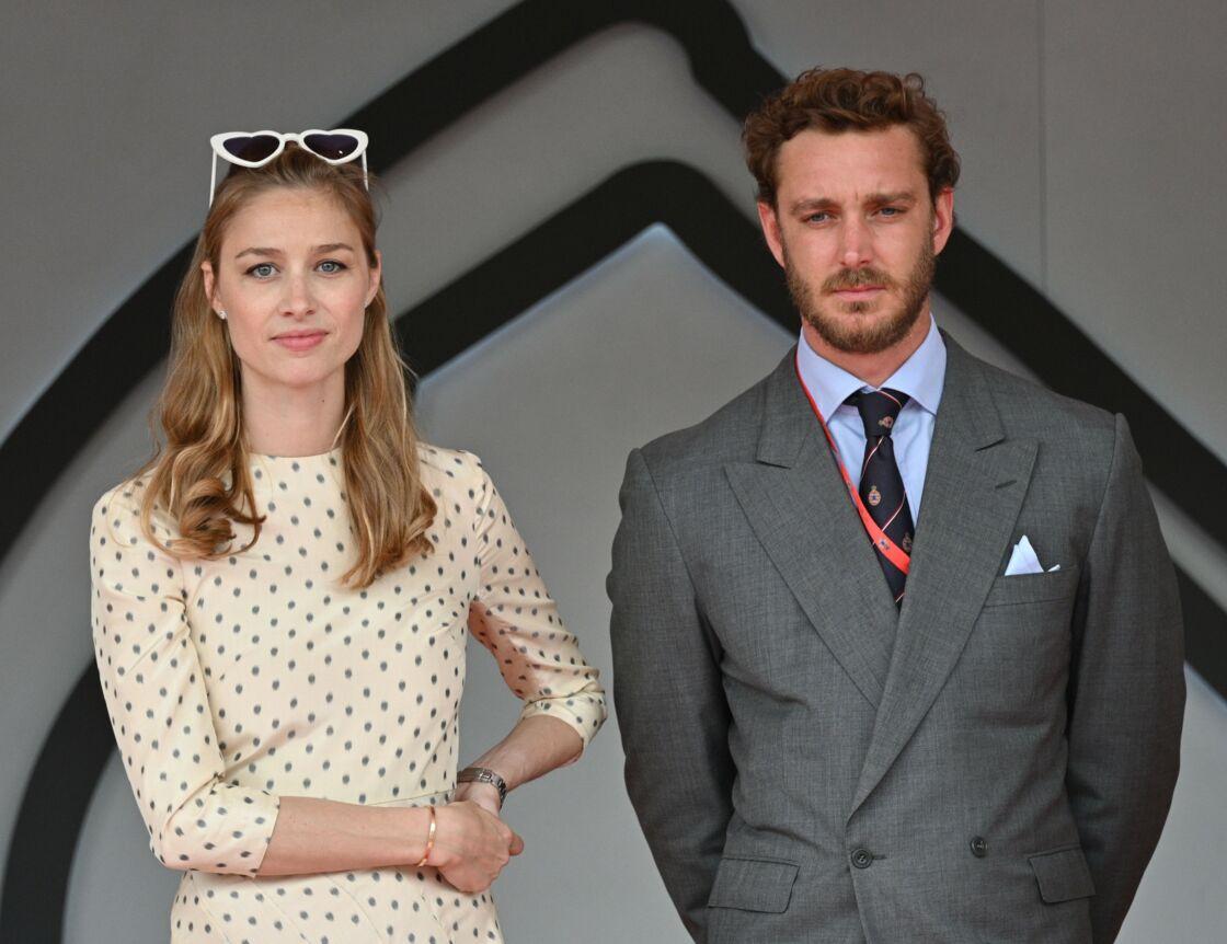 Pierre Casiraghi et son épouse Beatrice Borromeo lors du Grand Prix de Monaco, le 26 mai 2019.