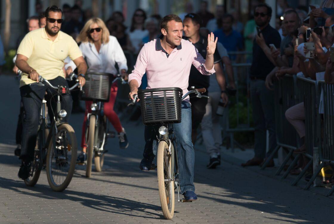 Alexandre Benalla avec les Macron au Touquet