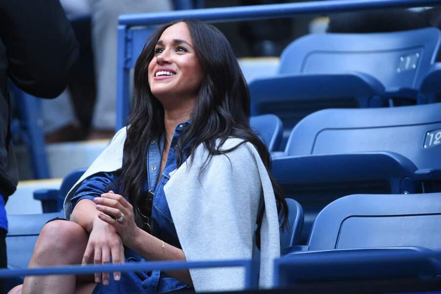 Meghan Markle était hier, le samedi 7 septembre, au stade Arthur-Ashe du Queens pour encourager Serena Williams