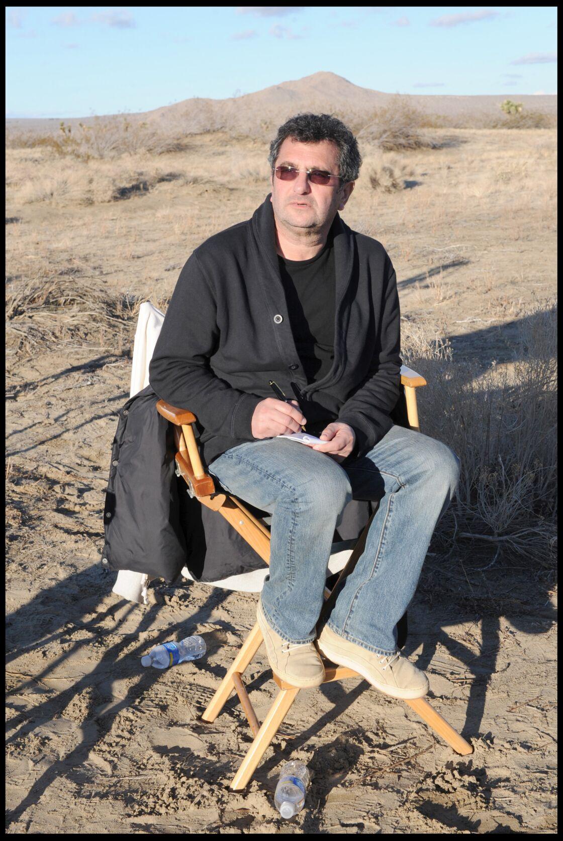 Michel Jankielewicz, sur le tournage de la publicité Optic 2000 mettant en scène Johnny dans le désert du Mojave, en 2010.