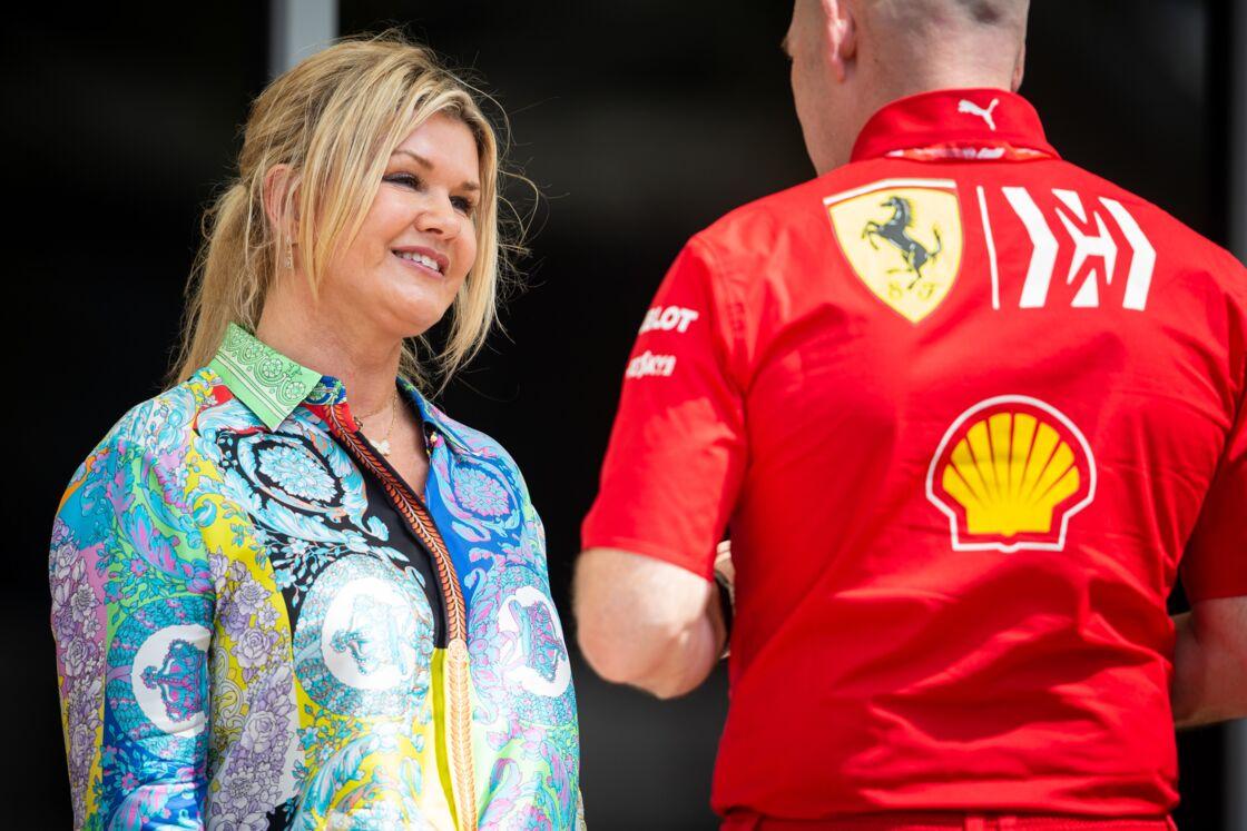 Corinna Schumacher sur le circuit du GP de Bahreïn le 29 mars 2019.- Bestimage