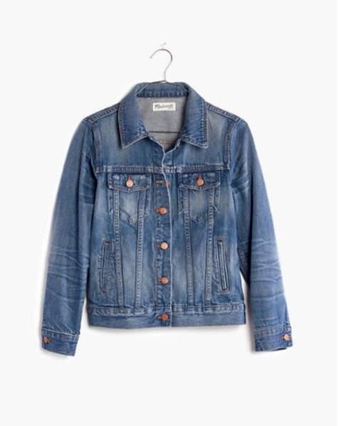 La veste en jean de Meghan Markle est signée Madewell, petite sœur de J.crew et coûte 121,29 €