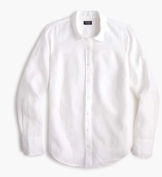 La chemise blanche J.crew de Meghan Markle coûte 110€