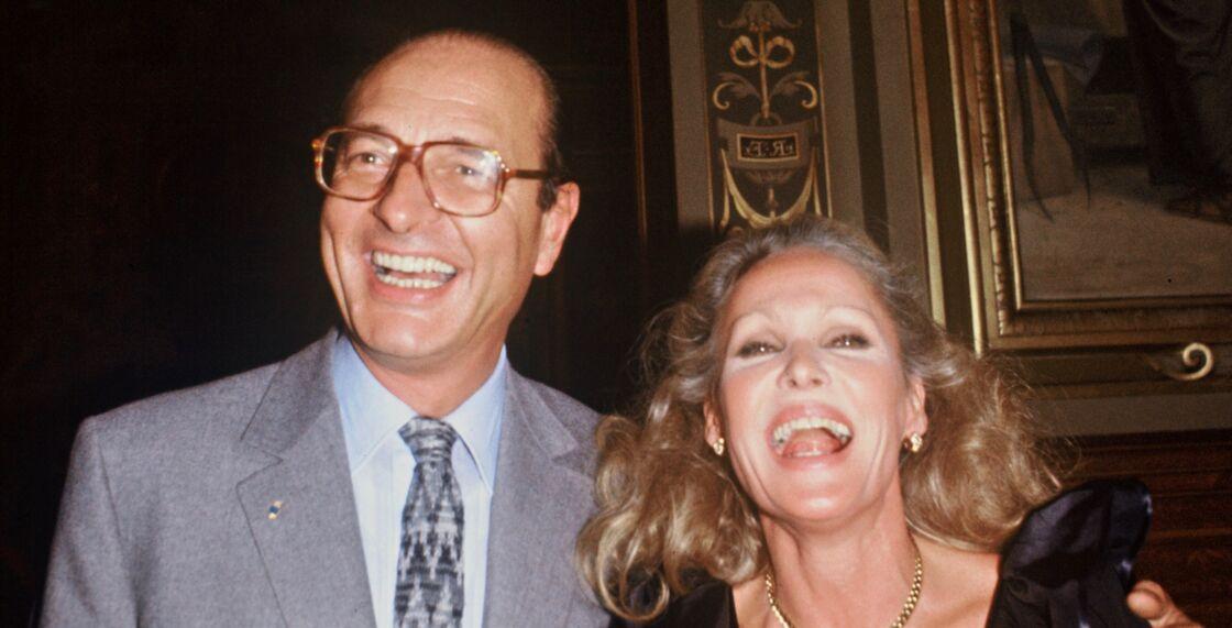 Jacques Chirac et Ursula Andress, à Paris, le 27 septembre 1983.