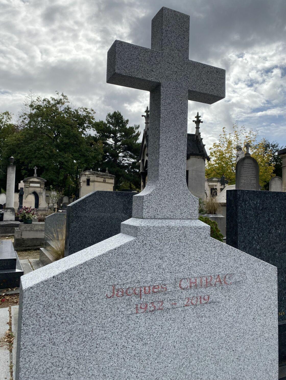Le caveau familial de la famille Chirac, le 27 septembre 2019.