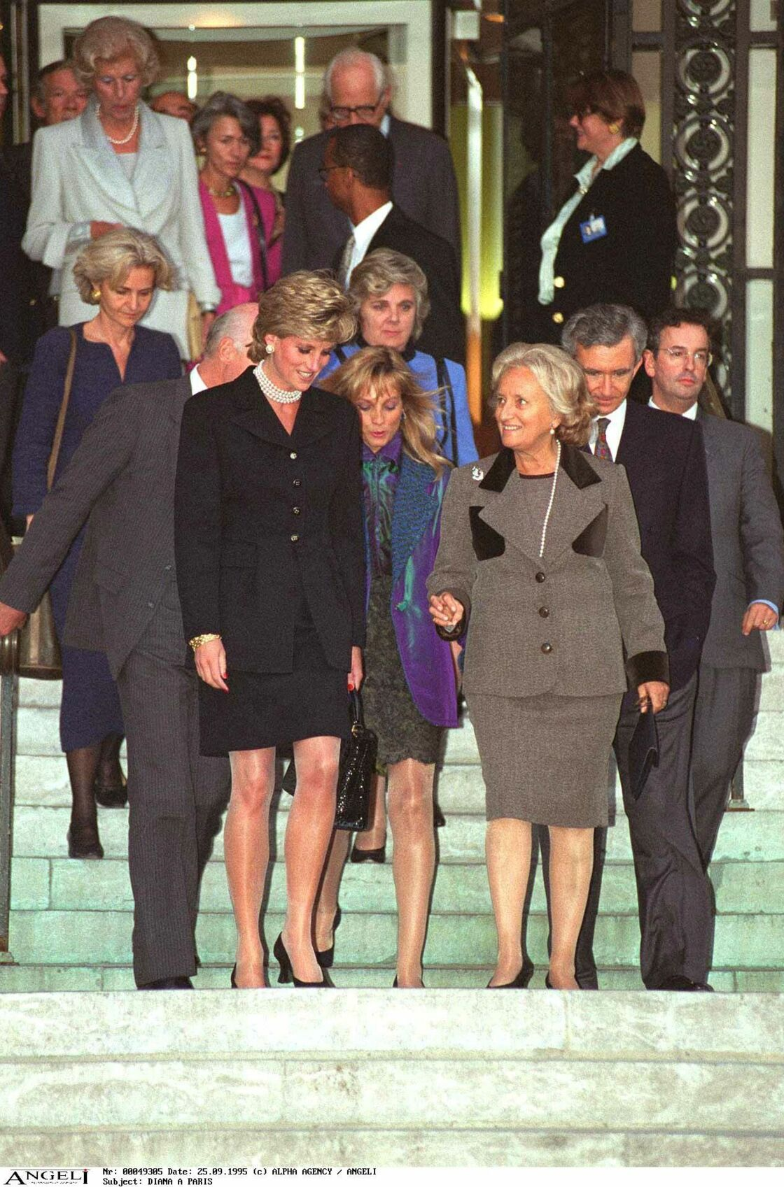 Lady Diana et Bernadette Chirac