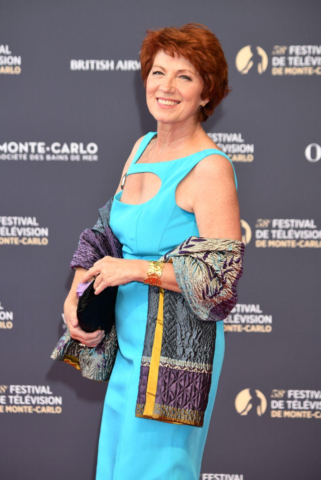 Véronique Genest à l'ouverture du 58e festival de télévision de Monte Carlo, à Monaco, le 15 juin 2018.