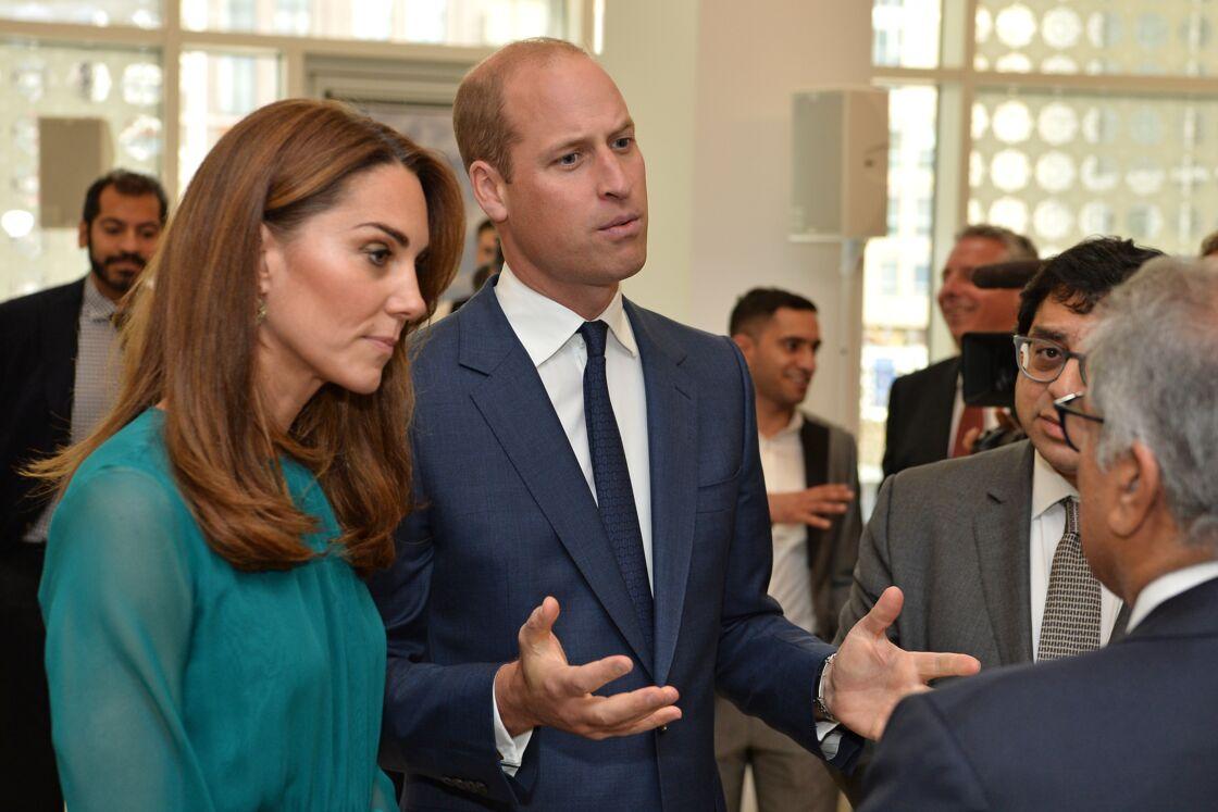 Kate Middleton et le prince William en visite au centre Aga Khan à Londres, le 2 octobre 2019.