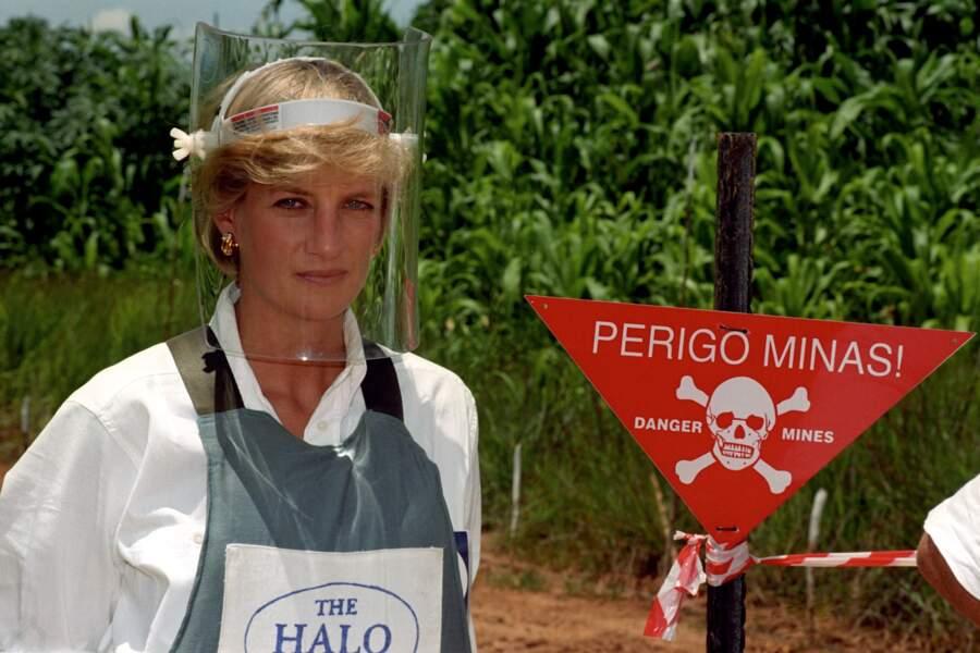 Lady Diana devant une zone dangeureuse