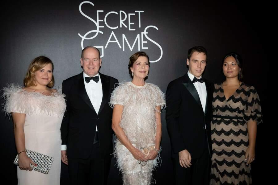 Camille Gottlieb, Albert II de Monaco, Caroline de Hanovre, Louis Ducruet et sa femme Marie Ducruet