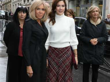 PHOTOS - Brigitte Macron et Mary du Danemark stylées pour leurs retrouvailles à Paris
