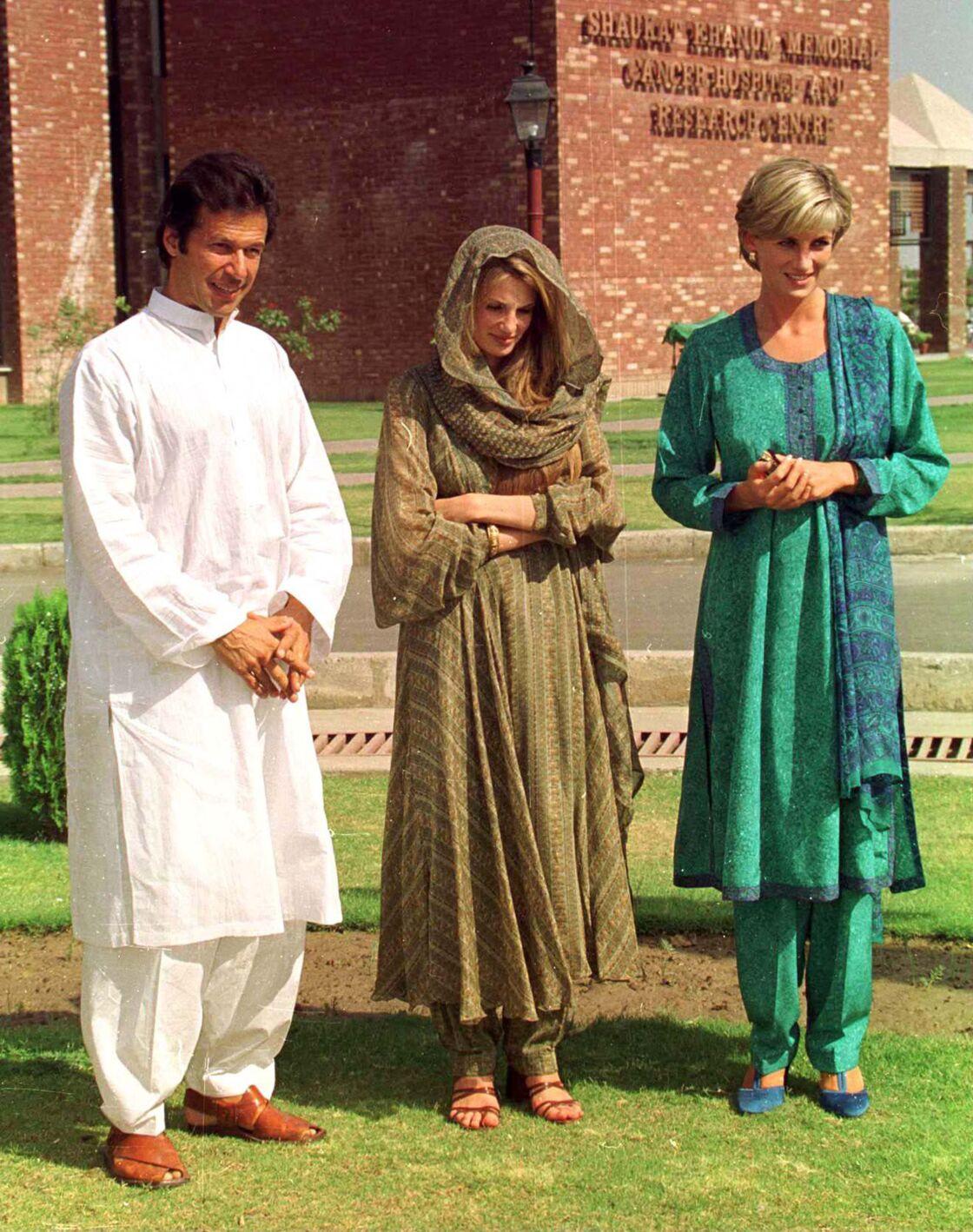 Lady Diana aux côtés de Imran Khan en mai 1997