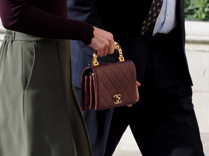 Kate Middleton porte pour la première fois un sac Chanel