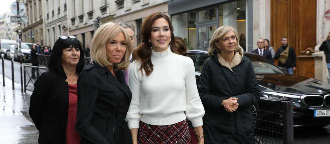 PHOTOS – Brigitte Macron et Mary de Danemark très élégantes pour leur retrouvailles à Paris - Gala