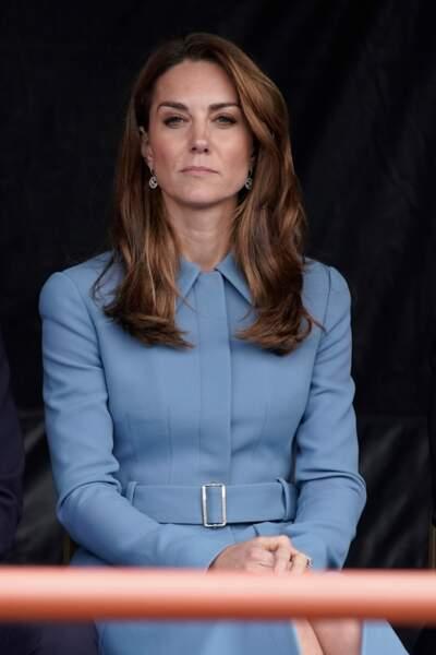 En septembre déjà, de légères éclaircies apparaissaient sur la chevelure de Kate Middleton...
