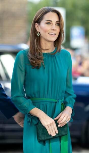 Kate Middleton, rayonnante de beauté à l'événement spécial organisé par Aga Khan au Centre Aga Khan de Londres, au Royaume-Uni, le 2 octobre 2019.