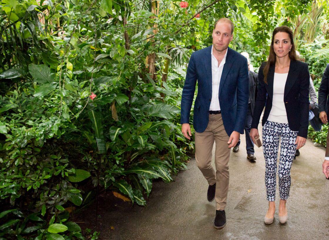 Le prince William et Kate Middleton, visitant l'Eden Project, dans les Cornouailles, en 2016.