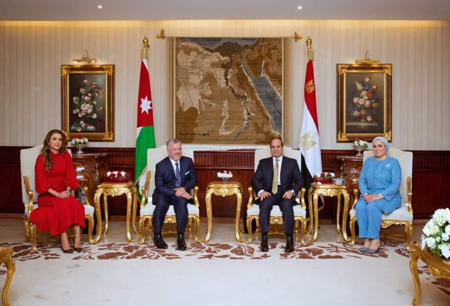 Cette visite s'est faite à l'occasion d'un voyage officiel au Caire, la capitale de l'Eygypte.