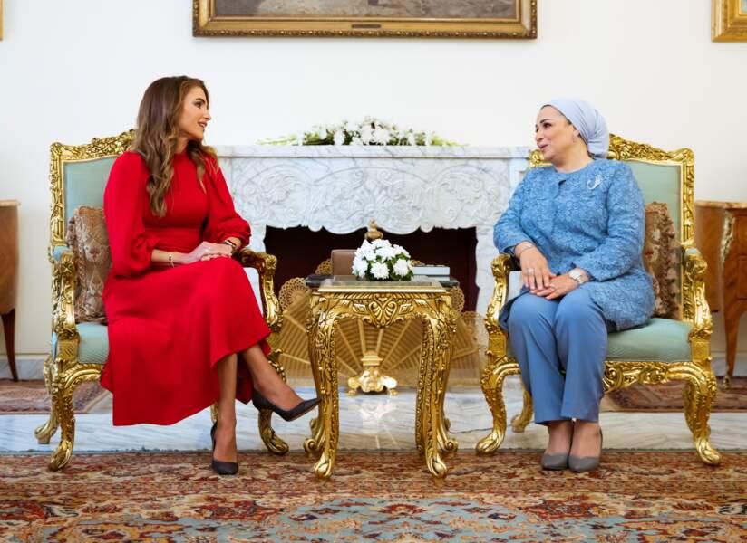 Les deux femmes ont pu échanger en tête à tête.