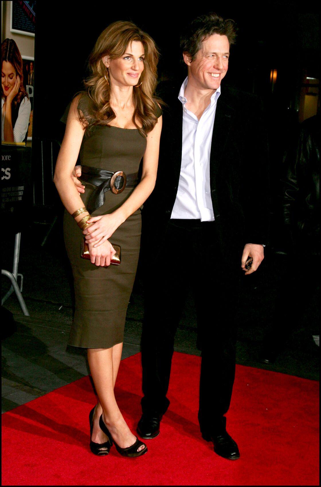 Jemima Khan et Hugh Grant, à une première londonienne, en 2007.