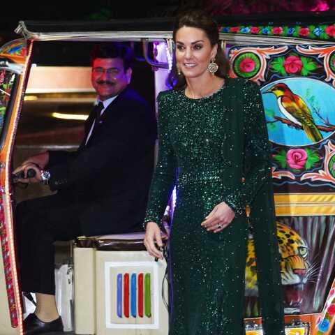 PHOTOS – Kate Middleton sublime dans une robe longue scintillante et verte, sa couleur préférée