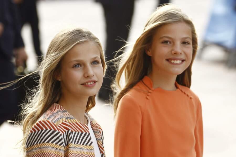 Leonor et Sofia d'Espagne, tout sourire