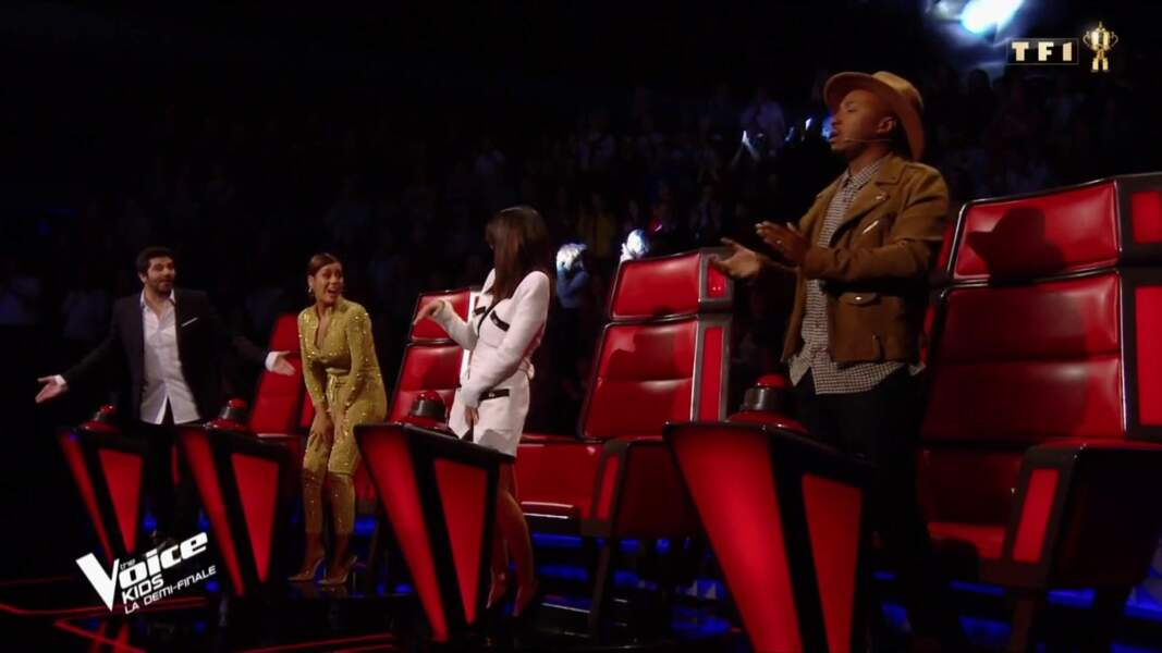 Les quatre coaches de The Voice Kids