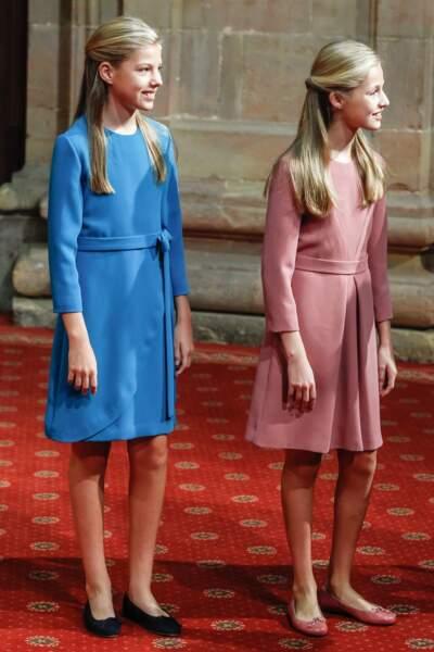 Les deux soeurs Leonor et Sofia, ravissantes