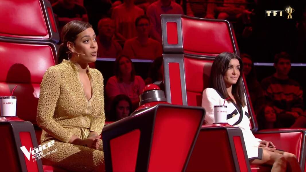 Jenifer et Amel Bent dans The Voice Kids, le 18 octobre