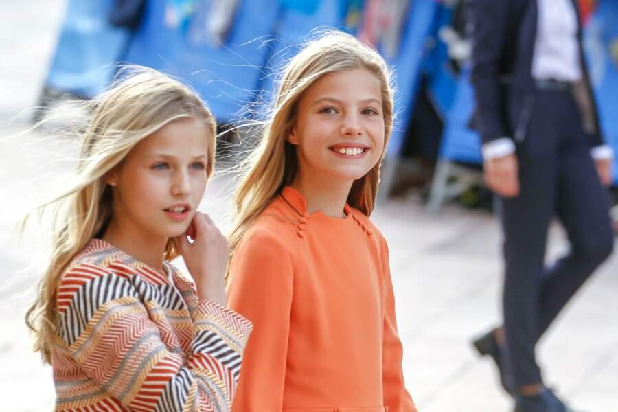 Les deux princesses d'Espagne ont fait sensation dans des tenues colorées
