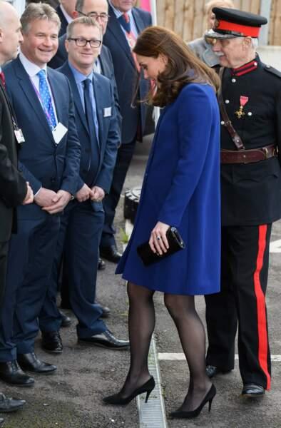 Kate Middleton lors d'une visite d'un centre de soins pour les addictions à Wickford, le 7 février 2018