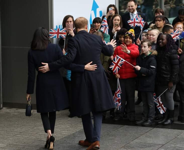 Meghan Markle et le prince Harry lors d'une visite officielle à Birmingham le 8 mars 2018.