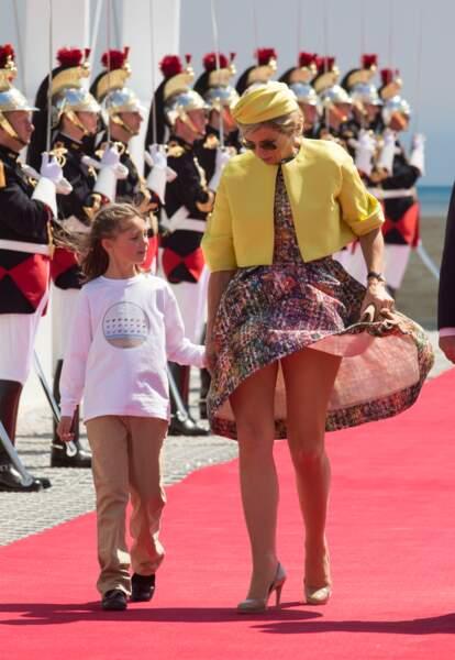 Maxima des Pays-Bas lors de la cérémonie de commémoration du 70ème anniversaire du débarquement, le 6 juin 2014