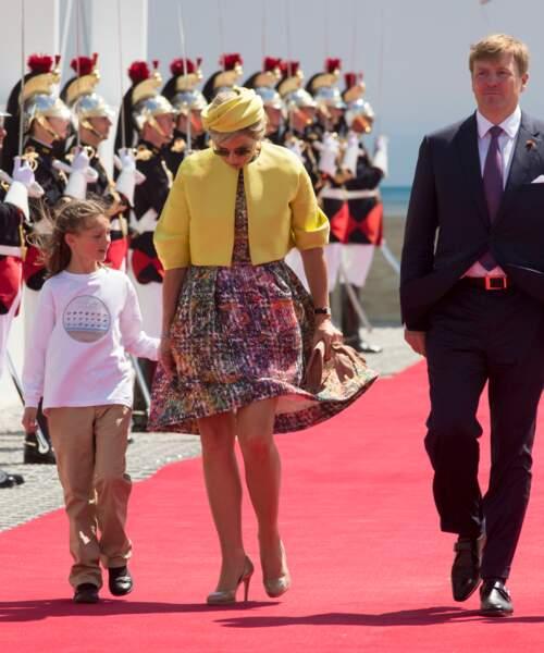 Maxima et Willem-Alexander des Pays-Bas lors de la cérémonie de commémoration du 70ème anniversaire du débarquement, le 6 juin 2014