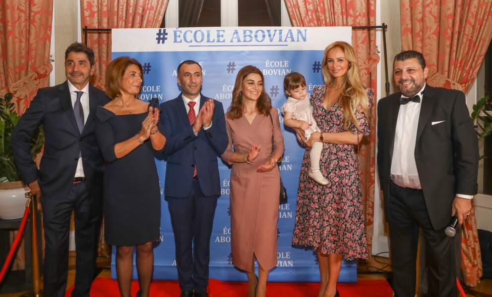 Ce samedi 26 octobre, Aram Ohanian et Adriana Karembeu étaient les invités d'honneur d'une soirée caritative organisée au profit de l'école arménienne Abovian