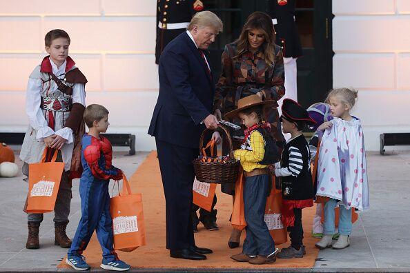 Halloween avant l'heure pour le couple présidentiel américain - lundi 28 octobre 2019.