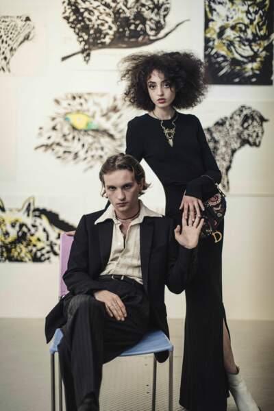 L'acteur Lukas Ionesco et son amie Clara Benador.