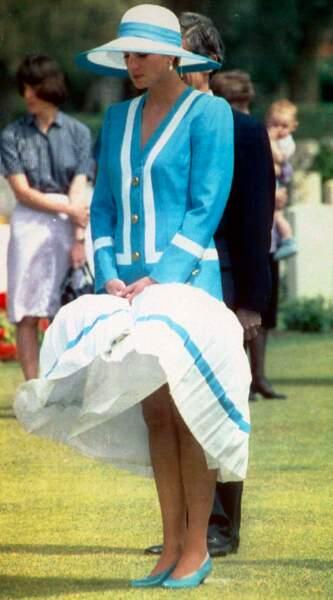 La princesse Diana lors d'un voyage en Egype, en 1992