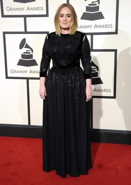 Adele au Grammy Awards en février 2016