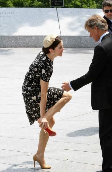 La princesse Mary de Danemark lors d'une visite à Washington, le 6 mai 2010